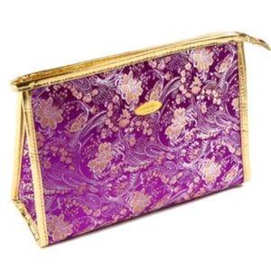 Amrita Singh Purple Cotton & Silk Cosmetic Bag